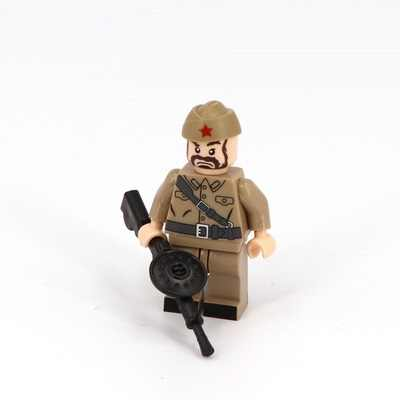 World War II WW2 Soviet Soldier Gun Mini Figures Military Weapons Parts Accessories Playmobil City Bricks Building Block Toys