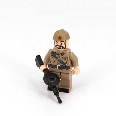 World War II WW2 Soviet Soldier Gun Mini Figures Military Weapons Parts Accessories Playmobil City Bricks Building Block Toys