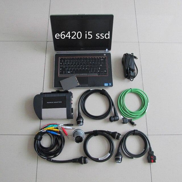 Star diagnostique pc portable e6420 i5 | Outil de diagnostic sans fil c4 mo avec cpu i5 e6420, nouveau logiciel + ssd 2020.06, super qualité prêt à utiliser