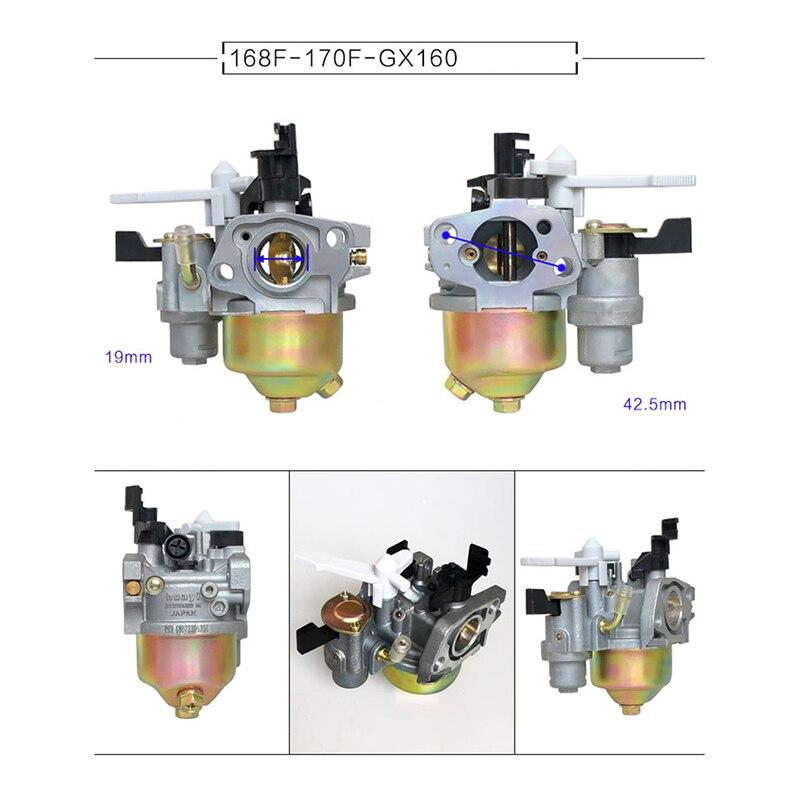 Detail Feedback Questions about GX160 carburetor 2 3KW 168F