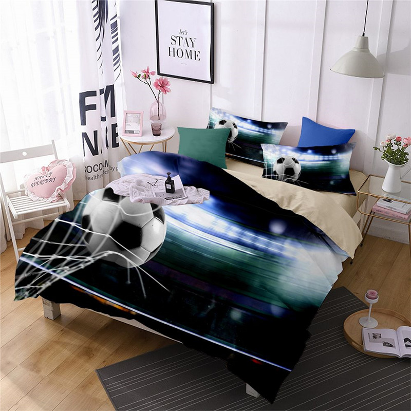 Fanaija football bedding set queen size 3d printed sports duvet Cover With Pillowcases single king twin Bed design bedline-in Bedding Sets from Home & Garden on Aliexpress.com | Alibaba Group