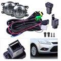 Preto Nova Cablagem Sockets + Interruptor + 2 Luzes de Nevoeiro Lâmpada H11 12 V 55 W Kit para Ford Mustang Lincoln Navigator Subaru Outback