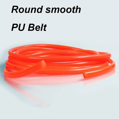 Round PU belt 2 3 4 5 6 <font><b>7</b></font> 8 9 10 <font><b>12</b></font> 15 18 20 <font><b>mm</b></font> Industrial synchronous belt strip driving motion conveyor transmission machine image