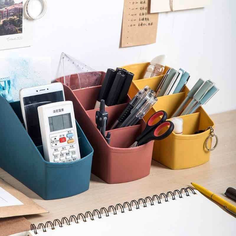 Multi-Lattice Living Room Cosmetics Storage Container Space saving Trapezoidal Shape Durable Desktop Storage Case Organizer