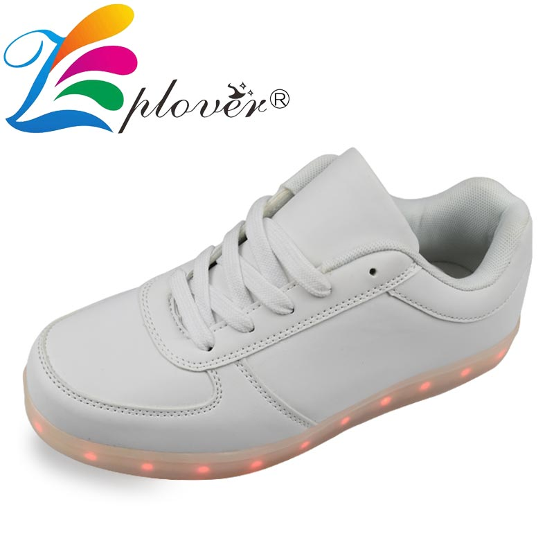 Men's Shoes Shoes Men Shoes Led Luminous Shoes For Men Fashion Light Up Casual 7 Colors Usb Charge Led Shoes White Footwear Sneakers Zapatos