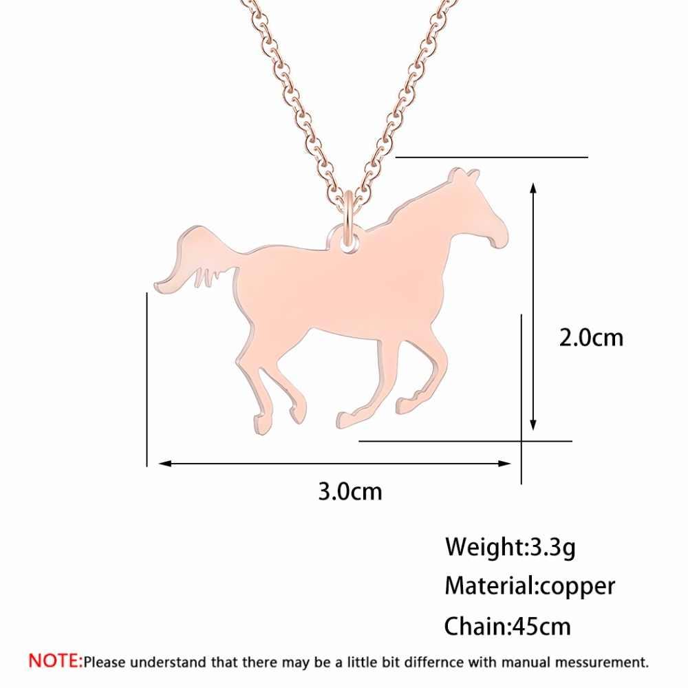 Run Animal Horse naszyjnik dla kobiet mężczyzn złota moda ze stali nierdzewnej markowa biżuteria etniczny tybetański Choker naszyjniki prezent