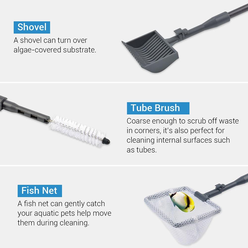 NICREW 6 in 1 Aquarium Net Aquarium Brush Aquarium Algae Scraper for Aquarium Cleaning Tool Kit Fish Tank Cleaner Accessories in Cleaning Tools from Home Garden