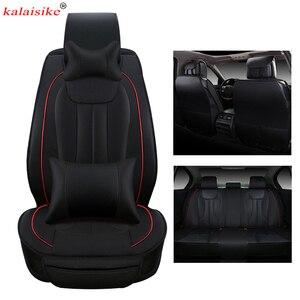 Image 4 - Чехлы kalaisike на сиденья автомобиля, кожаные универсальные чехлы для Suzuki, все модели, grand vitara, vitara, jimny swift, Kizashi, SX4, liana, Стайлинг автомобиля