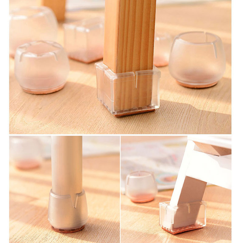 Silicone Furniture Table Feet Cover Home Floor Protector Chair Leg Caps Pad
