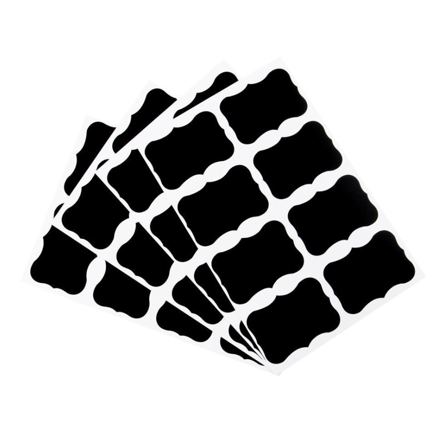 40pcs/lot Blank Black Special Shaped Stickers Two Choices Baking Seal Sticker DIY Gift Product Sealing Label Good Price