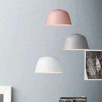 Modern Nordic AMBIT Pendant Lights Denmark Colored Macaron Aluminum LED Pendant Lamp Kitchen Restaurant Light Ceiling