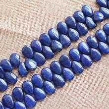 Lapis Lazuli Naturali 13x18mm goccia D'acqua Perline Sparse 30 pz per filo, forniamo il commercio all'ingrosso misto per tutti gli articoli!