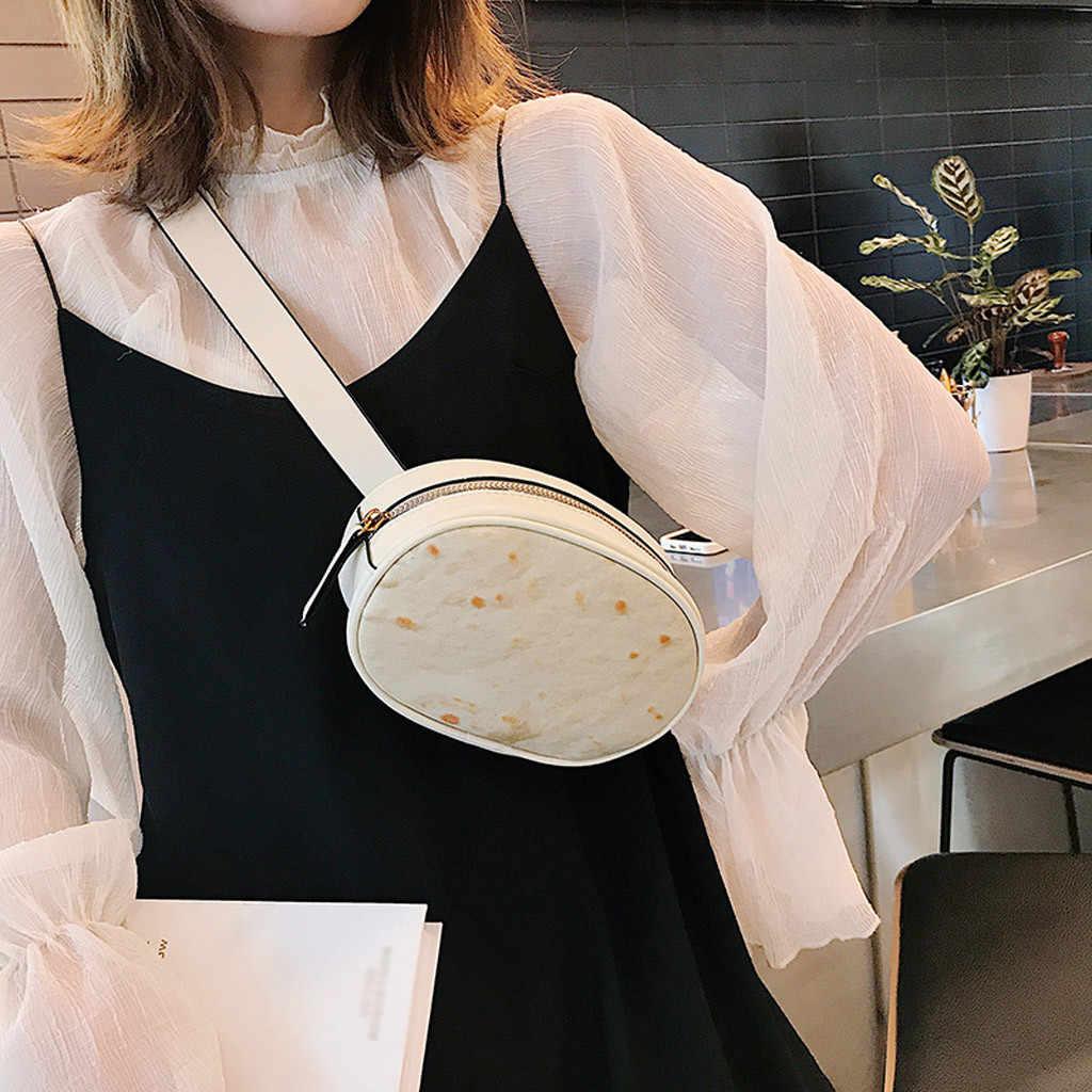 CONEED 2019 ハンドバッグ女性のバッグファッション女性屋外 Burritos ジッパーメッセンジャーバッグチェストバッグノベルティファッションウエストパック APR22