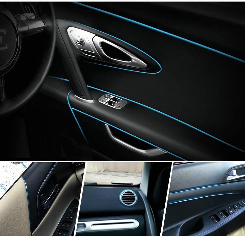 1m new car styling flexible interior internal decoration moulding trim decorative strips line. Black Bedroom Furniture Sets. Home Design Ideas