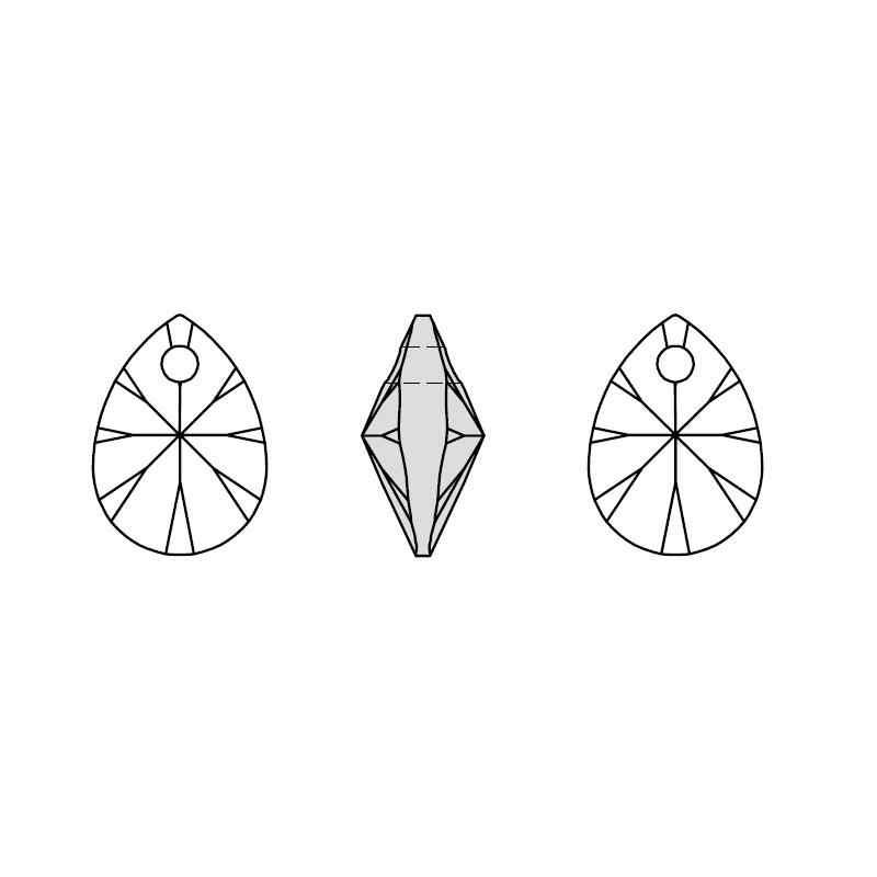 (1 Unidad) Cristal de Swarovski ORIGINAL 100%, Mini colgante de pera XILION 6128, HECHO EN Austria de diamantes de imitación para hacer joyería DIY