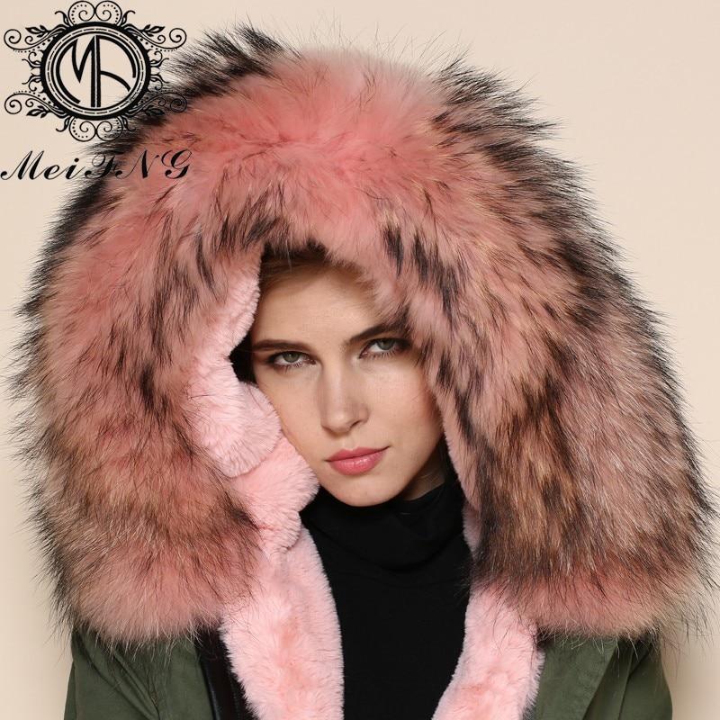 Новое поступление быть Теплый Розовый внутри на элегантных женщин Кабо зимние куртки для женщин куртка меховой капюшон