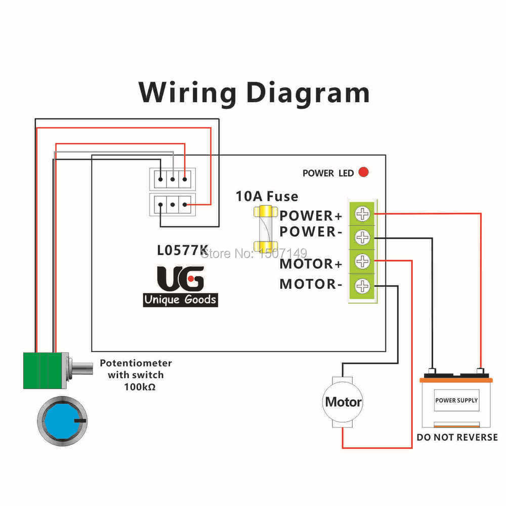 Wiring a potentiometer for motor 32 wiring diagram for Schematic diagram of dc motor