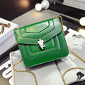 England Style Small Thread Women Bags Messenger Famous Brand With Chain New 2016 Luxury Small Chain Bag Ladies Leather PU Green