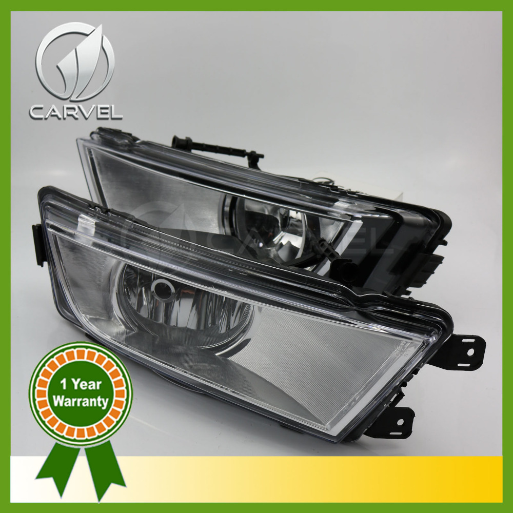 ФОТО Free Shipping For Skoda Octavia A7 MK3 2013 2014 2015 2016 New Pair Of Front Halogen Fog Lamp Fog Light With Bulbs