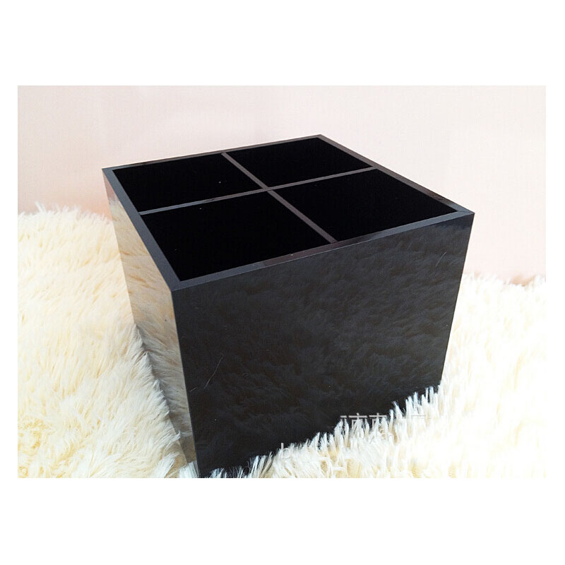 Fashion Luxury Cosmetic Boxes Acrylic Makeup Brush Boxes Big Makeup Brush Desktop Storage Boxes High Quality