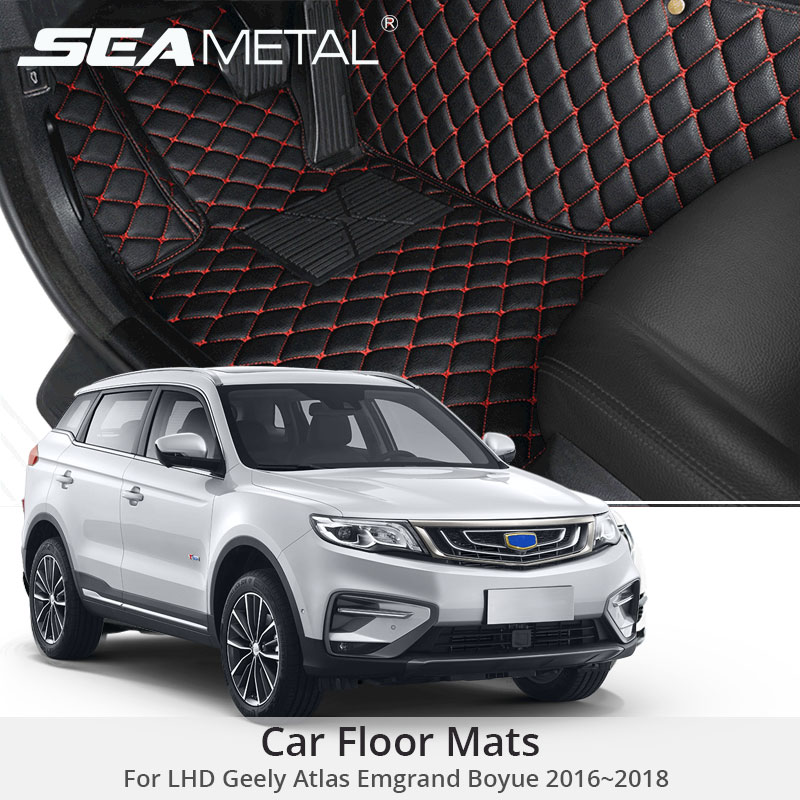 For LHD Geely Atlas 2018 2017 2016 Car Floor Mats Emgrand Boyue Custom Rugs Auto Interior