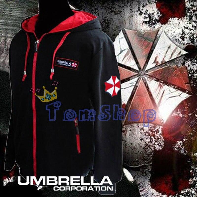 Resident Evil Cosplay Costume À Capuche Veste Manteau Mode Umbrella Corporation LOGO Unisexe À Capuche Sweat Biohazard