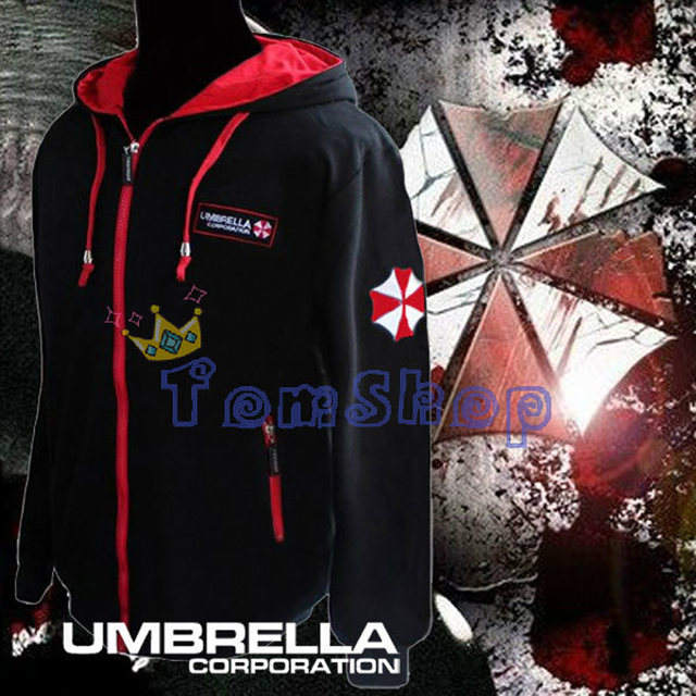 Resident Evil Cosplay Costume Hooded Jacket Coat Fashion Umbrella Corporation LOGO Unisex Hoodie Sweatshirt Biohazard