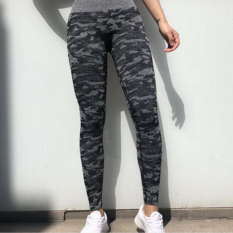 High Quality Seamless Butt Lift Women Tights Gym Wear Camo Printed Spandex Yoga Pants Leggings