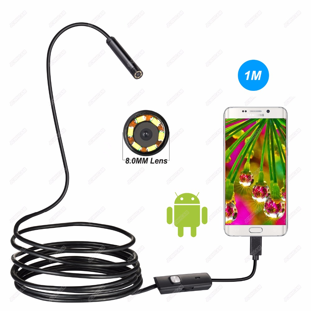 Endoscope Android USB Camera 1/2/5/10M 8mm Pipe Inspection Android Phone Endoscope Mini Camera USB Snake Waterproof Cable Camera Бороскопы