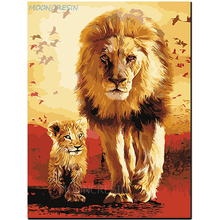 MOONCRESIN 5D Diamond Mosaic Lion And Son Embroidery Needlework Diy Painting Cross Stitch Resin Decoration Gifts