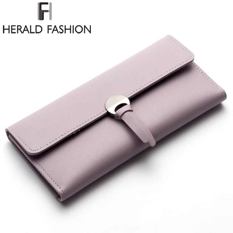 Herald Fashion Women Wallet Tassel Long Wallets Large Capacity Hasp Ladies Bag Purse Money Female Credit Card Coin Card Holder hot sale owl pattern wallet women zipper coin purse long wallets credit card holder money cash bag ladies purses