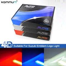 KAMMURI Styling Car 4D Logo luz Fria Emblema Traseiro Luz para Suzuki SWIFT Alto Jimny Traseira Emblema Logo Luz