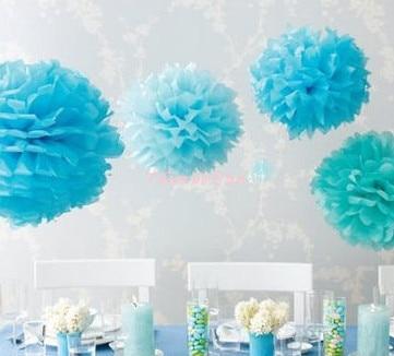 30PCS lot 15cm/6inch Tissue Paper Pom Poms. Wedding decor Party Decoration. Artificial flowers.wedding car decoration Multicolor