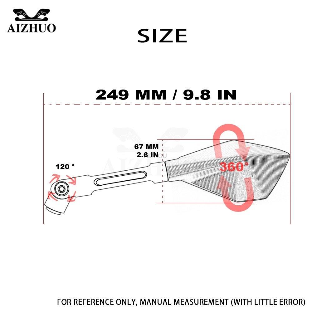 CNC En Aluminium Rétroviseurs Accessoires Moto Rétroviseur Pour