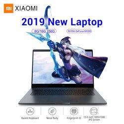 2019 Xiao mi mi Laptop Notebook Pro 15.6 ''Windows10 Intel czterordzeniowy I5/I7 16GB 256GB id odcisku palca NVIDIA MX250 Ga mi ng Laptop|Laptopy|   -