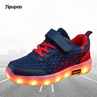 7ipupas USB Colorful Flame Mesh Led Sneakers EUR 25 35 For Girls Boys Sole Neon Glowing