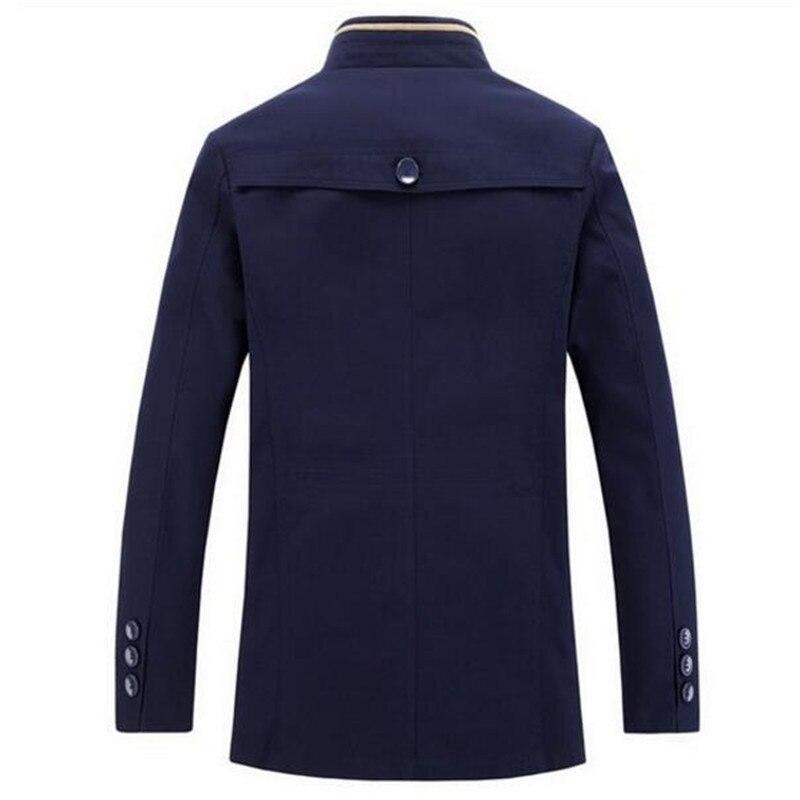 Longue 2 3 Populaires Casual Mode De Tranchée Automne 1 Style Veste Hommes Printemps 2016 Pour Homme Manteau Chaude Montant Coton Col qgwHxRO