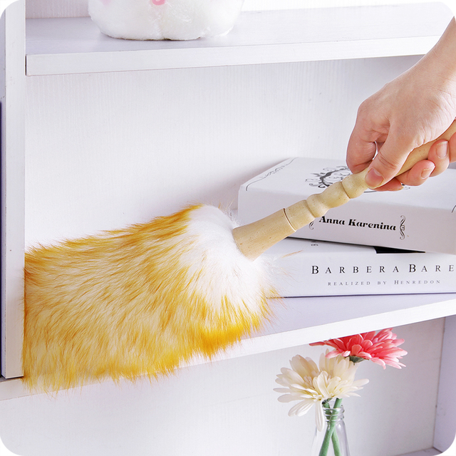 vanzlife from the dust brush household feather duster dusting cleaning brush wool duster brush for dust broom
