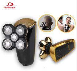 Big promotion Portable Five Cutter Electric Shaver USB Rechargeable bald head shave bald Machine Waterproof electric razor men