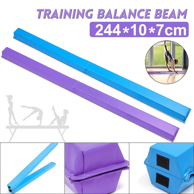 Women Folding Balance Beam 244X10X7cm Balance Beam  Cushion Adult Childrens Gymnastics Gym Training Equipment For SomersaultWomen Folding Balance Beam 244X10X7cm Balance Beam  Cushion Adult Childrens Gymnastics Gym Training Equipment For Somersault