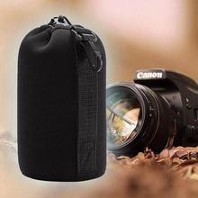1pc Neoprene Camera Lens Pouch Soft Camera Bag Case Protecto