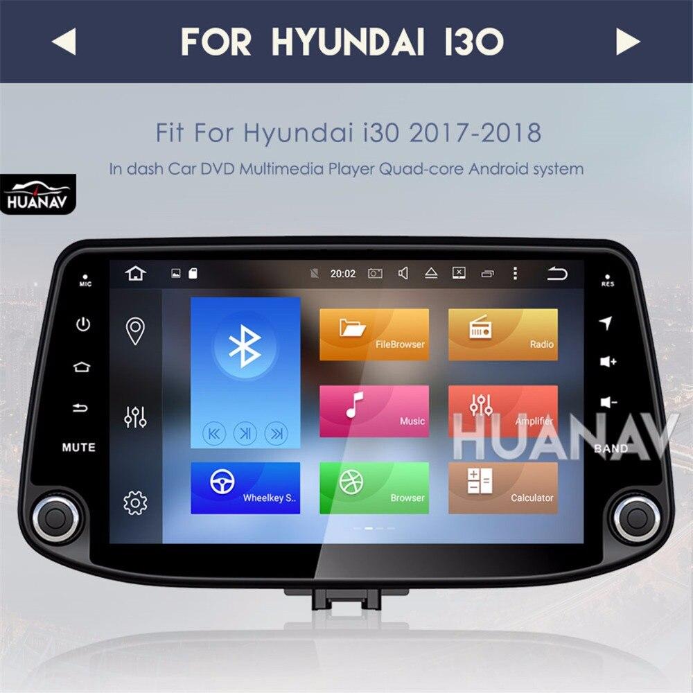 Lecteur radio voiture GPS navigation pour Hyundai I30 2017 2018 Android 8.0/Android 7.1 multimédia stéréo automatique sans lecteur dvd