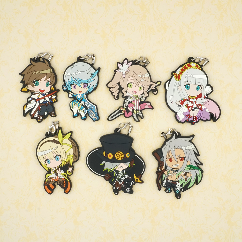 Tales of Zestiria Sorey Mikleo Tales of series Anime Rubber Strap Keychain Charm
