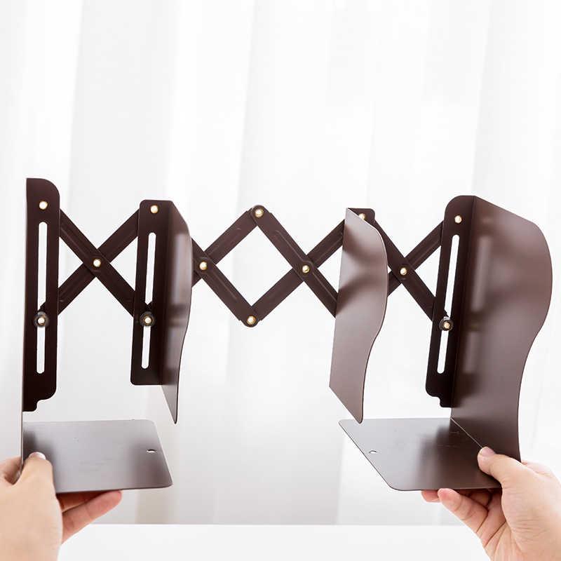 1 Uds. La libertad de ajustar estantería sujetalibros de metal grande soporte de escritorio para libros organizador de papelería