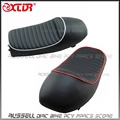 CusTion Motorcycle Black Flat Brat Style Tracker Cafe Racer Seat For Honda CB CG 125 cg125 cb125