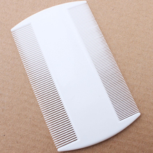 2 pcs 9cmx5cm size Portable Double plastic  Fine Tooth Head Lice Hair Combs for Pet Flea Plastic combs Cleaning beauty