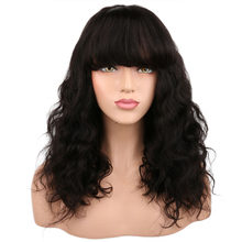 SHUMEIDA 250% Density Lace Front Human Hair Wigs For All Women Short Wavy Brazilian Remy Hair Lace Wig With Bangs(China)