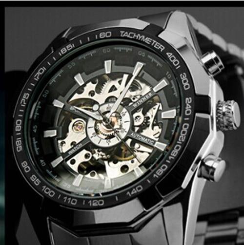2019 Hot Winner Luxury Brand Luxury Sport Men Automatic Skeleton Mechanical Mili