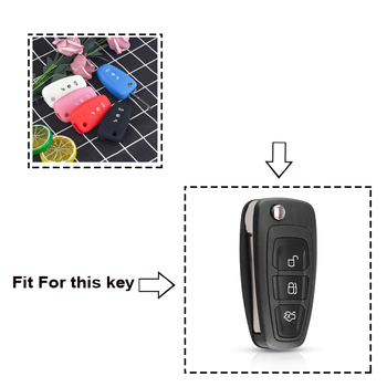Cover in silicone telecomando/chiave per Ford Ranger C-Max S-Max Focus Galaxy Mondeo Transit Fiesta Escape Ecosport 1