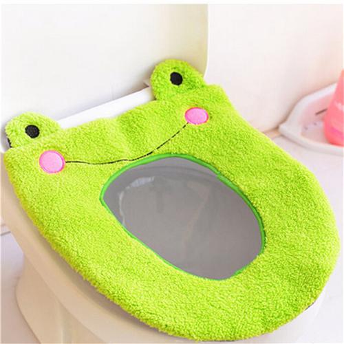 1PCS Cute Soft Warm Long Plush Toilet Seat Cover Mat Pad Lid Comfortable Washable Warmer Health Toilet Closestool Seat Cover